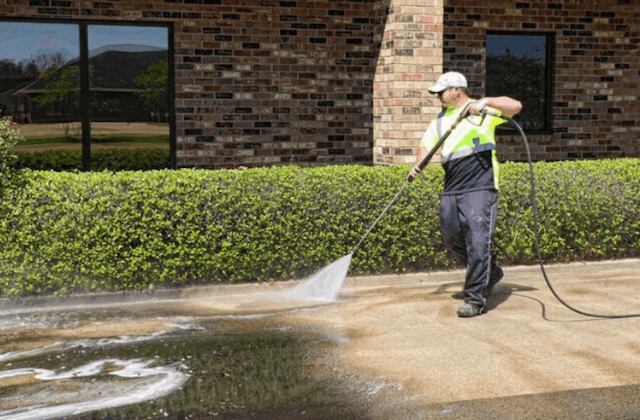 commercial concrete cleaning in burbank